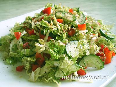 Турецкий салат из китайской капусты
