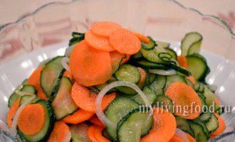 салат из огурцов и моркови