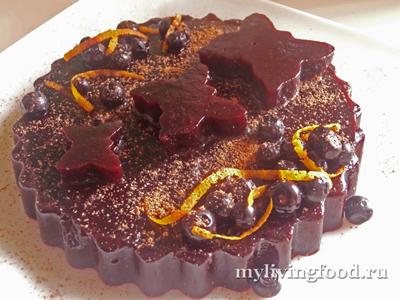 """Черничный желейный торт """"Бабочки в животе"""""""