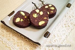 Сыроедческая шоколадная колбаска