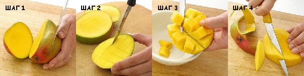 Как чистить манго