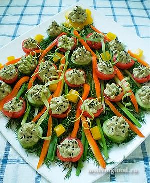 Оформление овощной нарезки