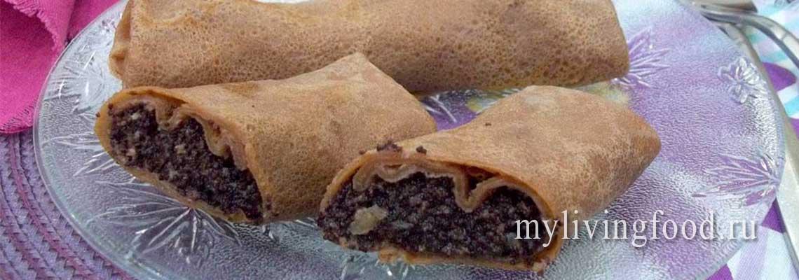 Сыроедческий десерт из блинов