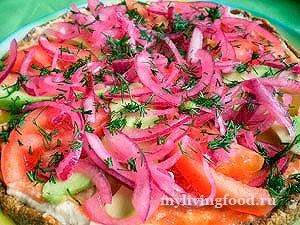 Сыроедческая пицца «Uno momento»