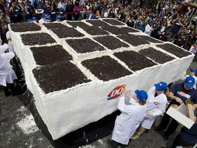 Самый большой торт-мороженое