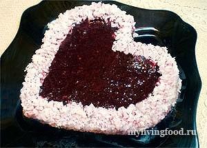 """Сыроедческий торт """"Для влюбленных"""""""