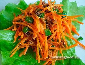 Морковный салат «Лисичка»