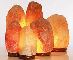 Лампы из гималайской розовой соли