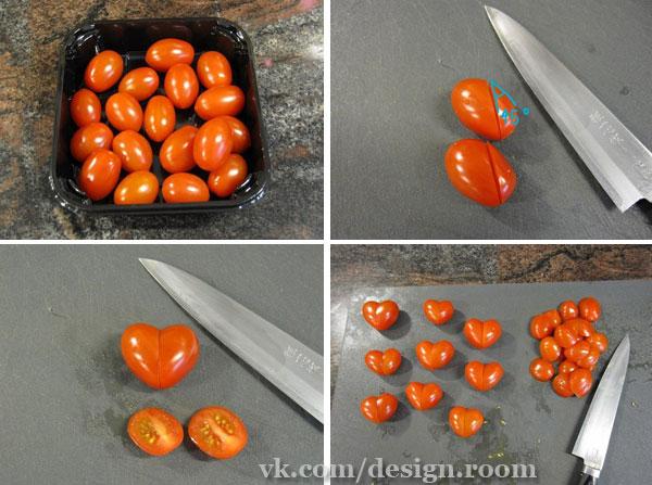 Как сделать украшение из помидорами 632