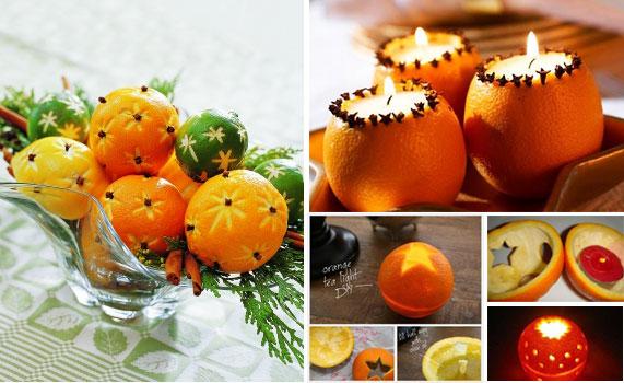 Украшения для стола из апельсинов