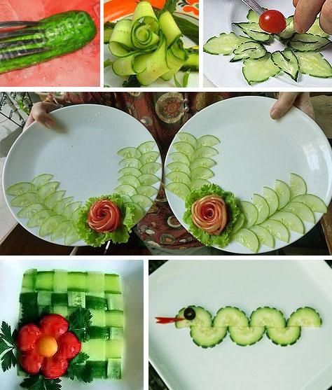 Украшения своими руками на овощах