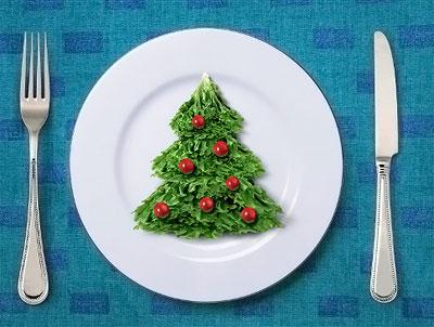 Украшение новогоднего стола по-сыроедчески