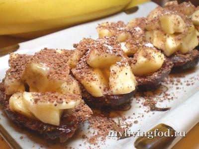 Сыроедческие банановые пирожжные