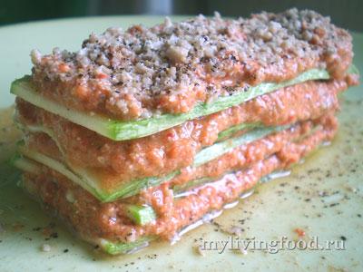 Сыроедческая лазанья за 5 минут