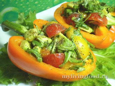 Овощной салат в перце