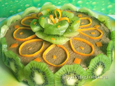Сыроедческий торт с киви «Чародейский»