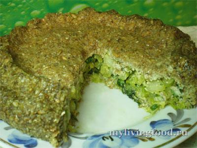 Сыроедческий ржаной капустный пирог