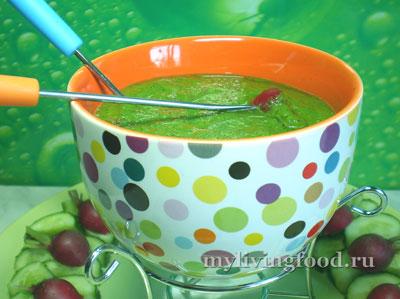 Сыроедческое фондю или замечательный соус из зелени