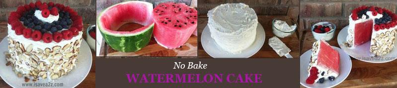 Арбузный торт без выпечки