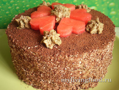 Торт из арбуза по-сыроедчески