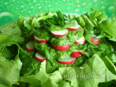 Простой салат с редисом