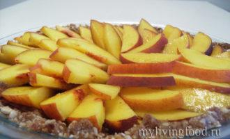 Вегано-сыроедческий персиковый торт на агаре