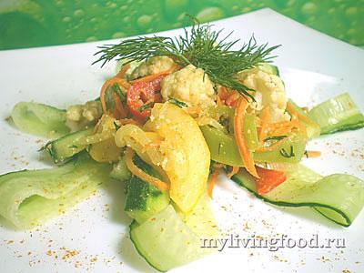 Салат с ассорти из овощей за 3 минуты!