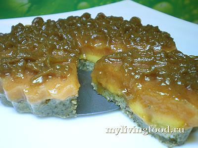 Персиковый торт на агаре