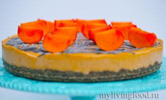 Вкусный домашний торт без выпечки из хурмы
