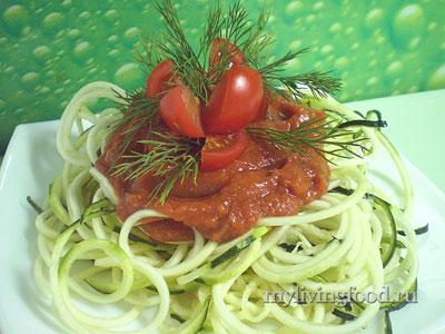 Цуккини-паста с кетчупом
