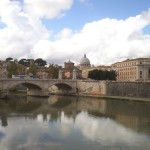 Вид с моста Ангелов в Риме