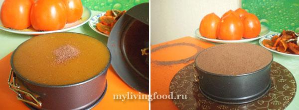 Украсить верх торта молотым какао