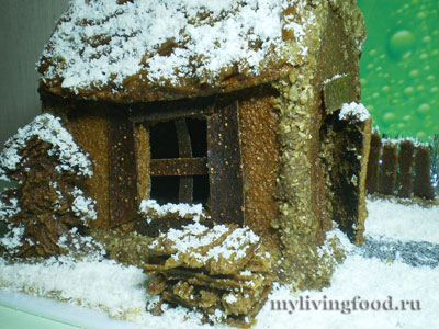 Поленница для пряничного домика