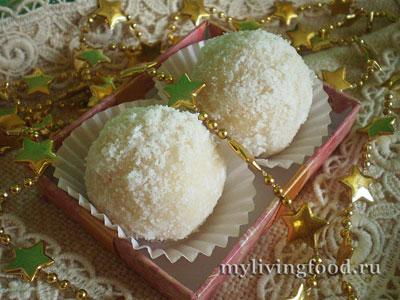 Конфеты из кокоса и меда