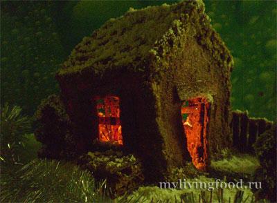 Пряничный домик со светом внутри!