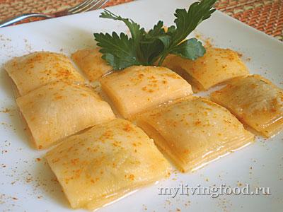 Сыроедческие равиоли – рецепт с фото