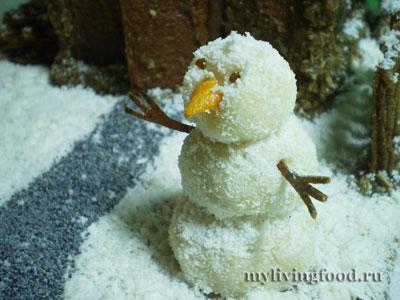 Снеговик для пряничного домика