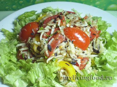 Салат из топинамбура с помидорами от Александры