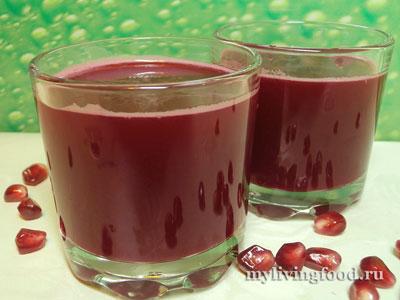 Гранатово-свекольный сок с водой