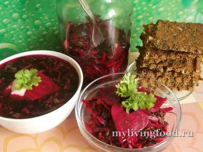 Свекольная ботва и блюда из свеклы по-сыроедчески