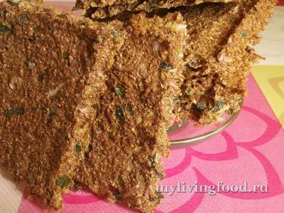 Льняные хлебцы со свекольной ботвой