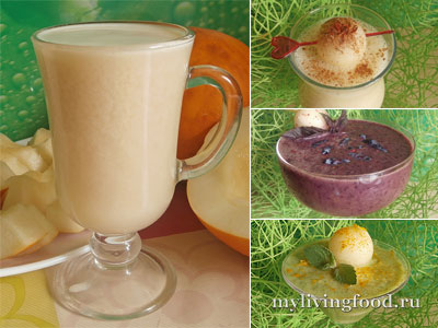 Молоко из семечек дыни по рецепту Энн Вигмор и легкие салаты-коктейли на его основе
