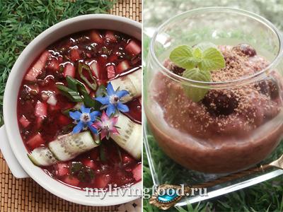 Холодный грузинский суп «Чриантели» и вишневое мороженое