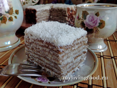 Сыроедный торт «Наполеон»