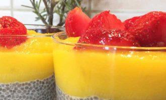 сыроедческий пудинг из манго и семян чиа