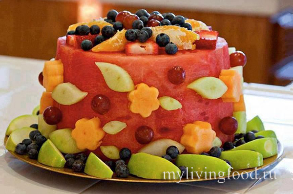 фруктовый торт на агаре