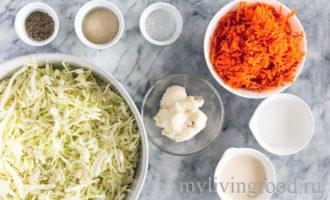 Веганский салат из капусты