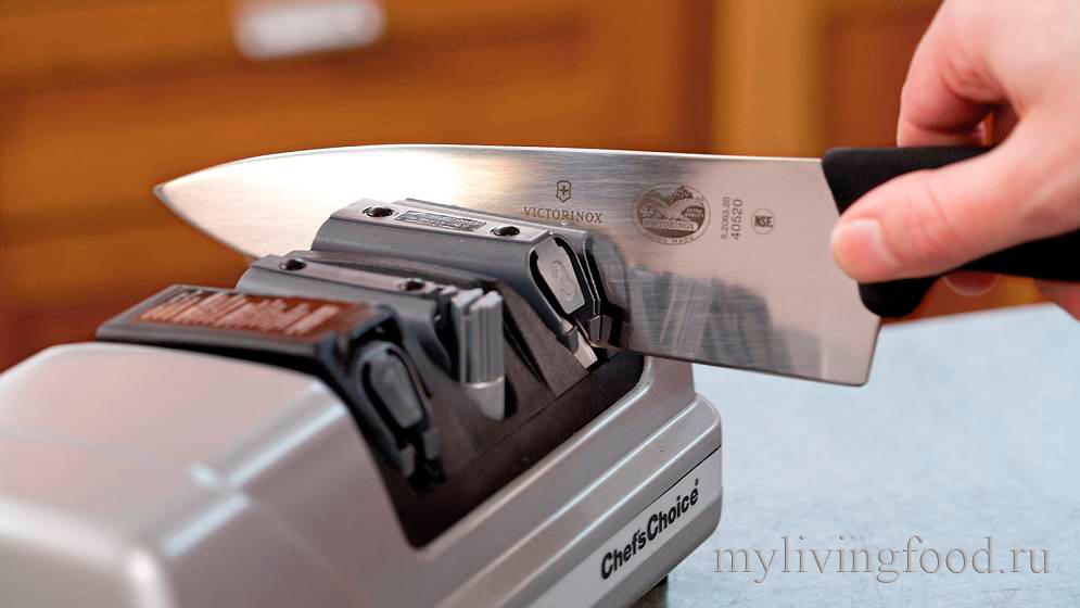 Заточка кухонных ножей.