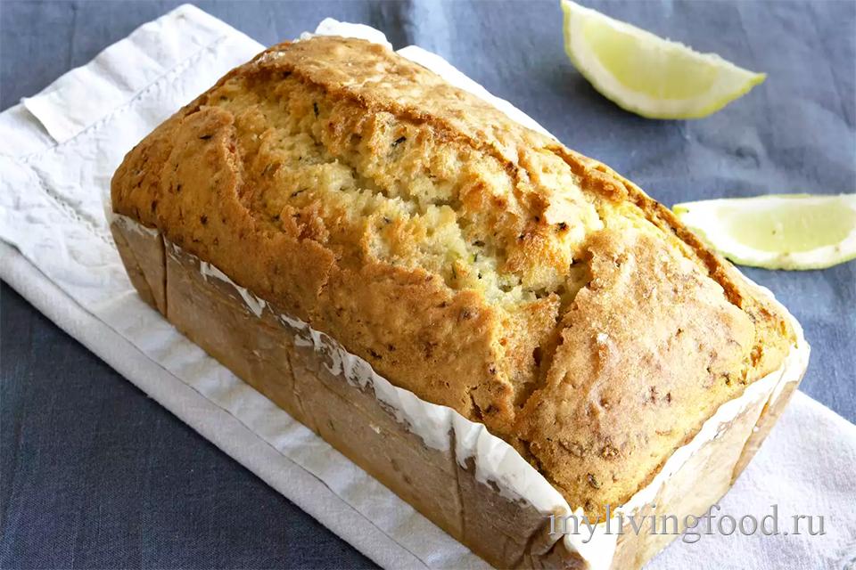Хлеб из кабачков и лимоном