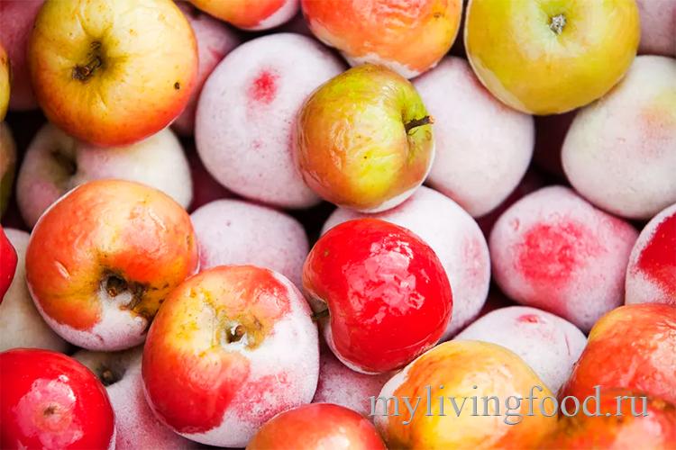 Заморозить яблоки с кожурой